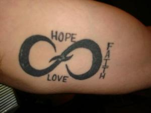hope faith love tribal tattoo