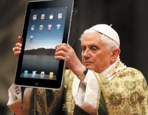 Pope with iPad